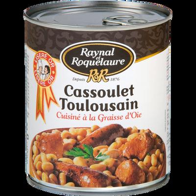 Cassoulet Toulousain à la graisse d'oie RAYNAL ET ROQUELAURE, boîte de840g