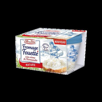 Fromage lait pasteurisé fouetté nature ELLE & VIRE, 28,1% de matière grasse, 140g