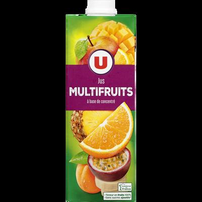 Jus à base de concentré multifruits U, brique 1l