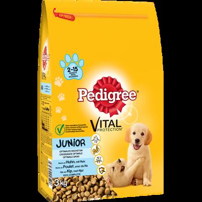 Croquettes pour chiot de 2 à 18 mois Junior PEDIGREE, 3kg