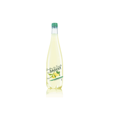 Eau minérale naturelle gazeuse citron et menthe BADOIT, bouteille de 1l