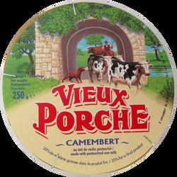 Camembert 20% de matière grasse VIEUX PORCHE, 250g