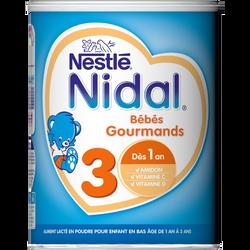 Nidal croissance 3 poudre gourmands dès 1ans NESTLE, 800g