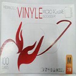 Gant vinyle micro poudré MEDIPROTEC, Taille M 7/8, boîte de 100 unités