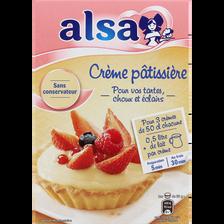 Préparation pour crème pâtissière onctueuse ALSA, 3 sachets, 390g