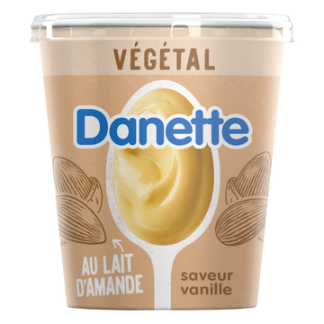 Danone Dessert Végétal Au Lait D'amande Et Aromatisé Vanille Danette 400g