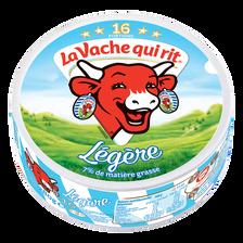 Fromage fondu au lait pasteurisé LA VACHE QUI RIT allégée, 7%MG,16 portions, 280g