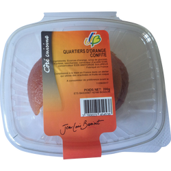 Orange confite quartier, JLB, barquette, 200g