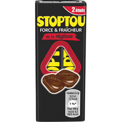Bonbons durs au reglisse STOPTOU, 64g
