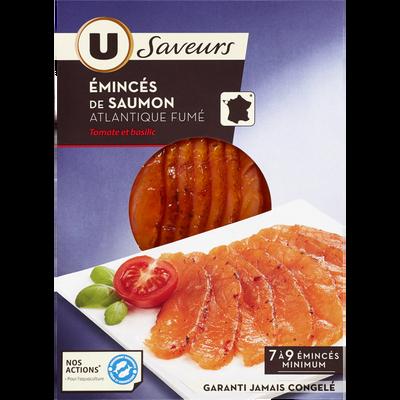 Emincés de saumon fumé tomate basilic U SAVEURS, 100g
