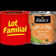 D'aucy Légumes Verts Épeautre Et Graines De Courge D'aucy, 2 Boites De 290g