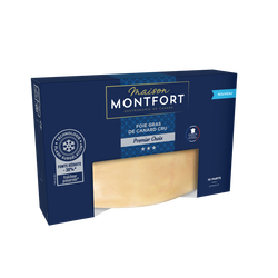 Foie gras de canard cru 1er choix sous skin MONTFORT, 450g