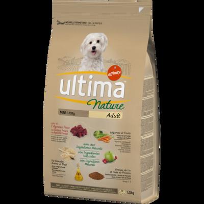 Croquettes pour chiens minis à l'agneau ULTIMA NATURE, sac de 1,25kg