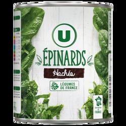 Epinards hachés U boîte 4/4 795g