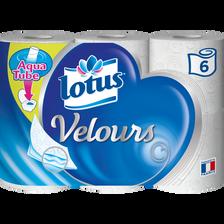 Papier toilette aquatube velours LOTUS, x6 rouleaux