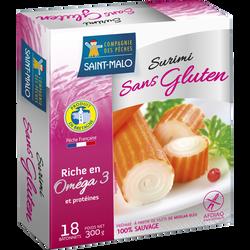 Bâtonnets surimi saveur crabe sans gluten COMPAGNIE DES PECHES, 300g
