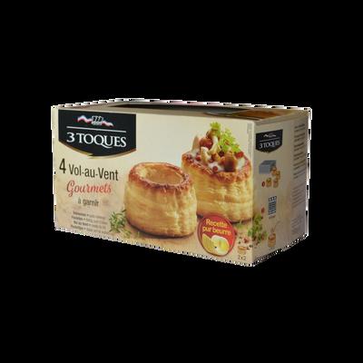Vol au vent gourmet beurre LES 3 TOQUES, 4x40g, 160g