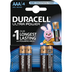 Piles LR03-AAA DURACELL Ultra power, pack de 4