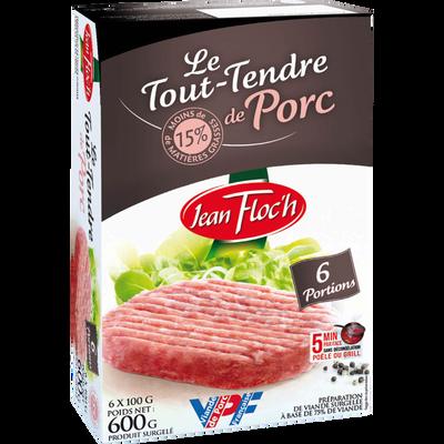 Haché tout tendre porc JEAN FLOCH, 6x100g
