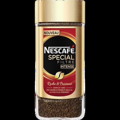 Café soluble spécial filtre intense NESCAFE, pot de 100g