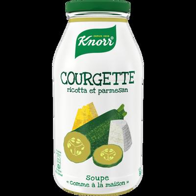 """Soupe """"comme à la maison""""courgette ricotta parmesan KNORR, bouteille de 45cl"""