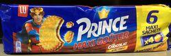 PRINCE MAXI GOUTER goût chocolat LU, 6X80G soit 480G