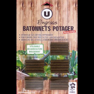 Bâtonnet potager, U, utilisable en agriculture biologique, 25 unités