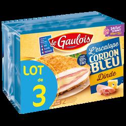 Cordon bleu Dinde, LE GAULOIS, 3 boîtes de 200g