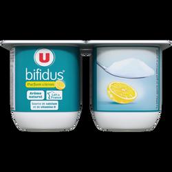 Lait fermenté au bifidus sucré saveur citron U, 4x125g