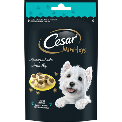 CESAR mini joys petites friandises fromage/poulet pour chien, 100g
