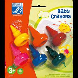 Cires à dessin Baby Crayon LEFRANC ET BOURGEOIS, coloris assortis, 6 unités