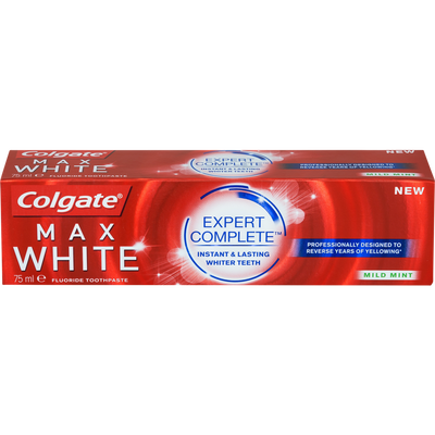 Dentifrice max white expert complete mild mint COLGATE, tube de 75ml