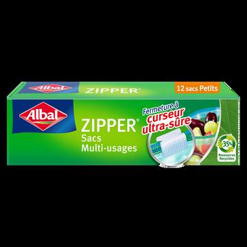 Albal Sacs Zipper Multi-usages Fond Plat Petit Modèle Albal, 12x1l