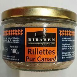 BIRABEN RILLETTES DE CANARD BOCAL 180G