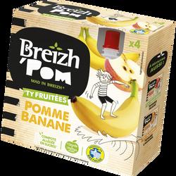 Compote de fruits pomme banane BREIZH'POM, 4x90g