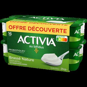 Danone Lait Fermenté Brassé Nature Aux Bifidus Activia, 12 X 125g