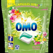 Omo Lessive 2en1 Lilas Blanc & Ylang Ylang , 30 Capsules Soit 0,723kg