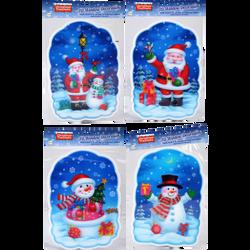 Stickers Noël effet 3D 16x23cm pour fenêtre