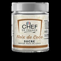 Sucre saveur noix de coco CHEF DE FRANCE, pot de 160g