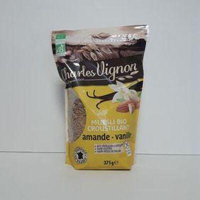 Muesli bio amande vanille CHARLES VIGNON sachet 375g