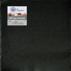 Serviettes U MAISON TEX TOUCH, 38x38cm, noires, 20 unités