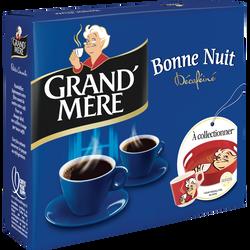 Café moulu décaféiné Bonne Nuit GRAND MERE, 2x250g