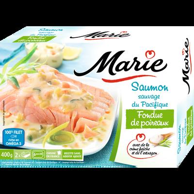 Saumon Atlantique fondue poireaux et crème fraîche MARIE, 400G