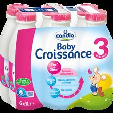 Candia Croissance , De 10 Mois À 3 Ans, 6x1l