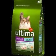 Ultima Croquettes Poulet Chats Stérilisés Light Ultima, 1,5kg