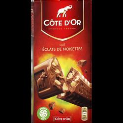 Chocolat au lait aux éclats de noisettes CÔTE D'OR, 200g