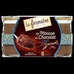 Mousse au chocolat au lait LA FERMIERE 2x85g