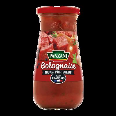 Sauce bolognaise 100% pur boeuf Français PANZANI, pot de 400g