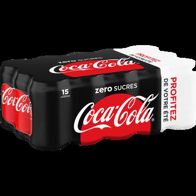 COCA COLA zéro profitez de votre été boîte 15x33cl