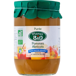 Purée de pommes abricots PLANET BIO, 630g